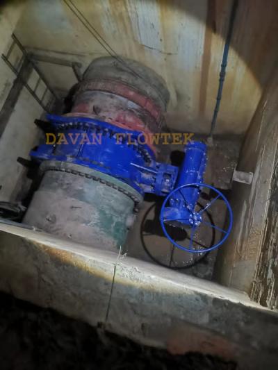 during the construction works of butterfly valve davan flowtek
